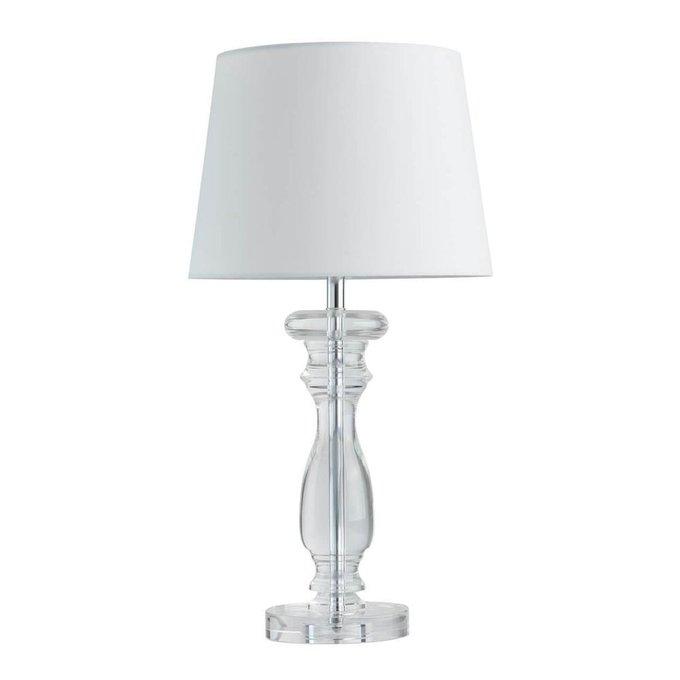 Настольная лампа София с белым абажуром