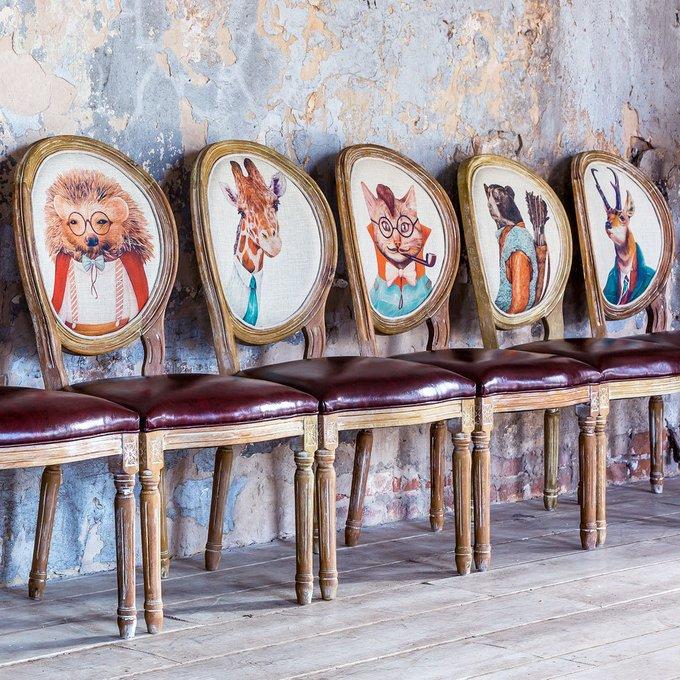 Стул Мистер Бодо с сиденьем и спинкой из экокожи
