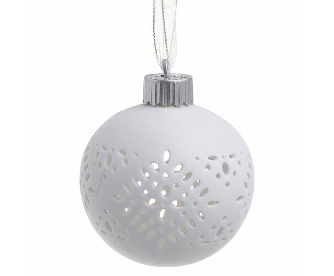 Елочная игрушка c led подсветкой белого цвета