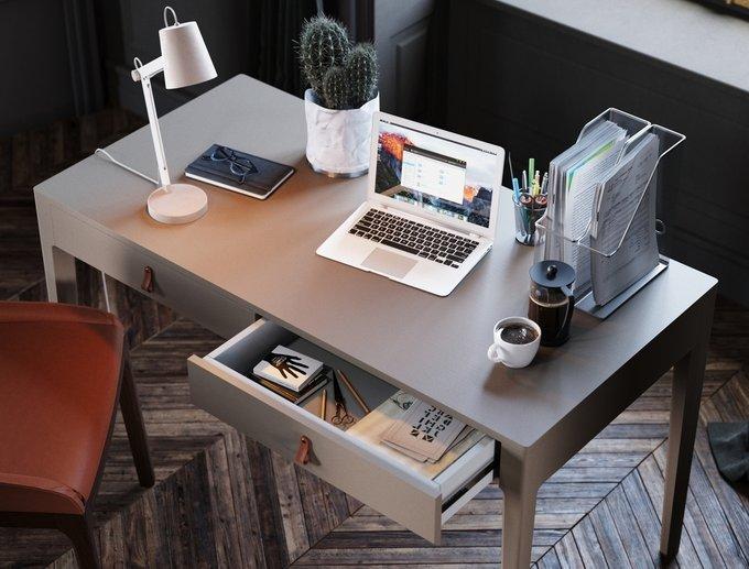 Рабочий стол Case бежево-серого цвета