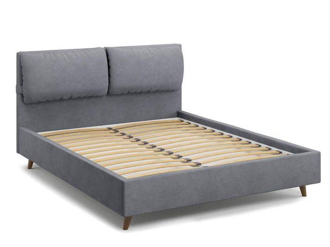 Кровать Trazimeno 140х200 серого цвета
