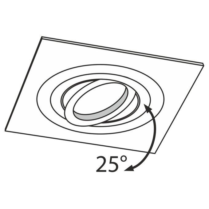 Встраиваемый светильник Atom серебряного цвета