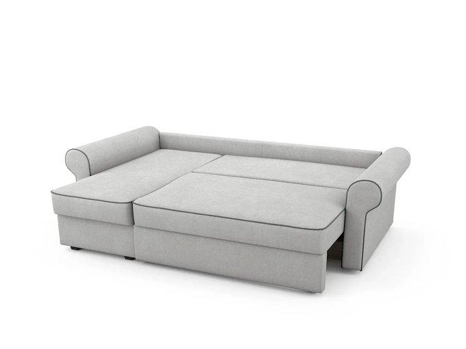 Угловой Диван-кровать Tulon левый светло-серого цвета
