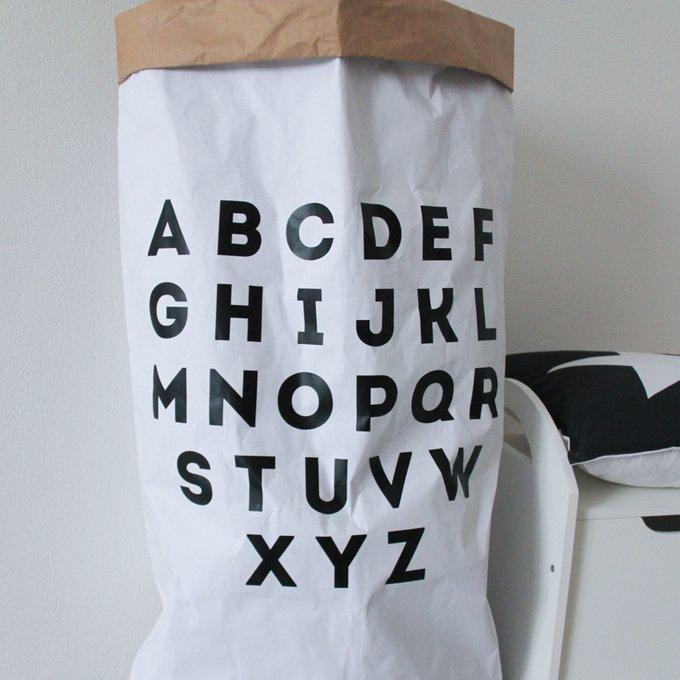 Эко-мешок для игрушек из крафт бумаги Alphabet
