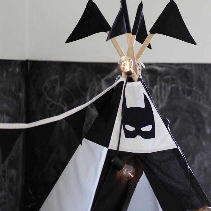 Вигвам для детей Batman с окном и карманом большой