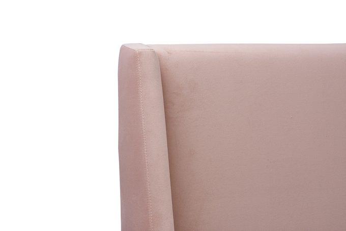 Кровать Эми розового цвета 180х200 с подъемным механизмом