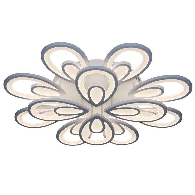 Потолочная светодиодная люстра Камелия белого цвета