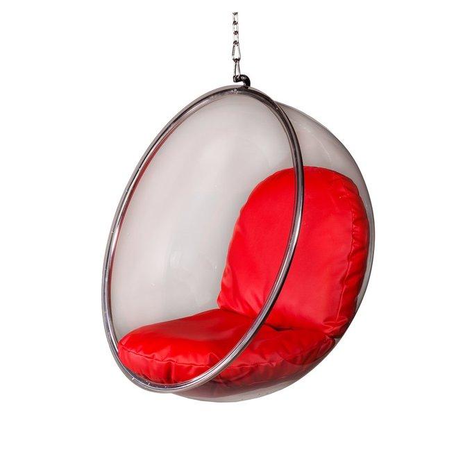 Кресло Bubble с красными подушками