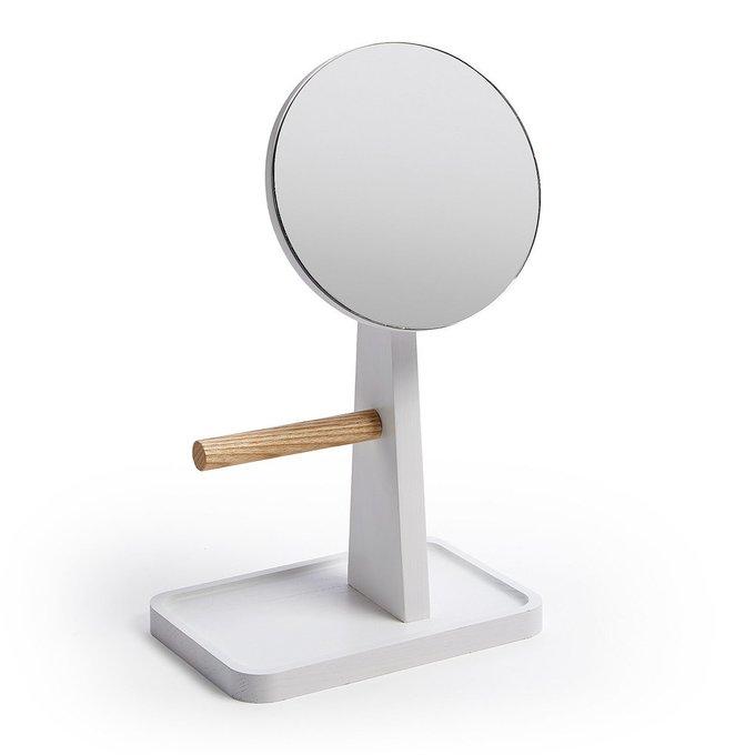 Настольное зеркало Lydianne из белого дерева