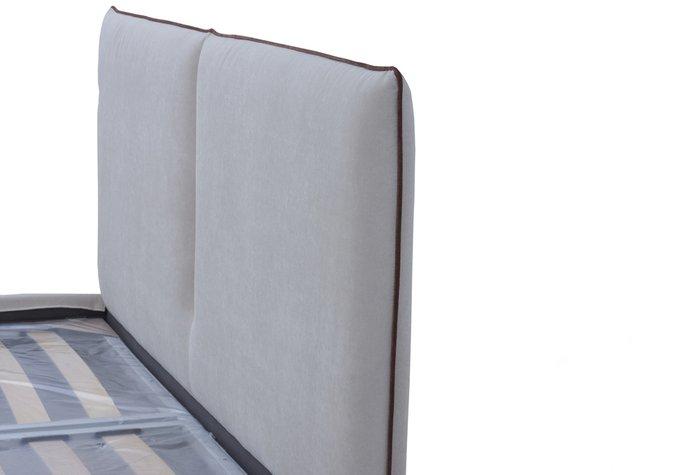 Кровать Алиша серого цвета 160х200 с подъемным механизмом