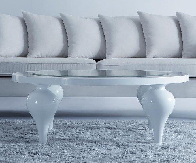 """Журнальный столик """"PALERMO"""" с отделкой бежево-серый глянцевый лак Khaki"""