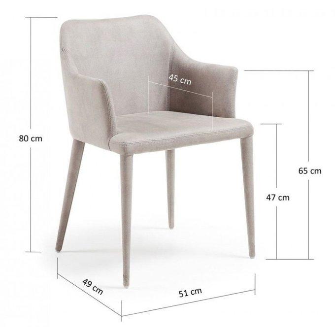 Кресло Danai серое эко-нубук