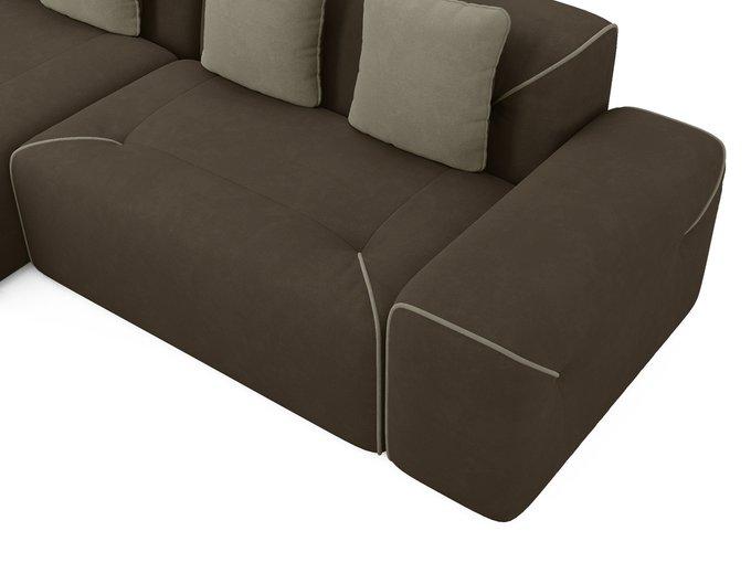 Угловой диван-кровать левый Portu темно-коричневого цвета