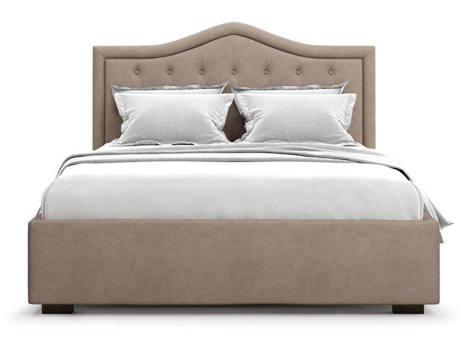 Кровать Tibr без подъемного механизма 160х200 коричневого цвета