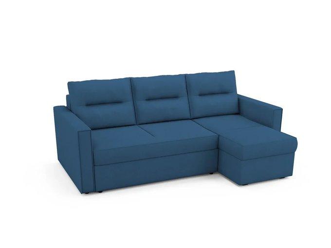 Угловой Диван-кровать Macao правый синего цвета