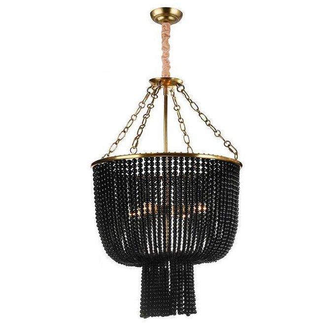 Подвесной светильник Brass/Black черного цвета