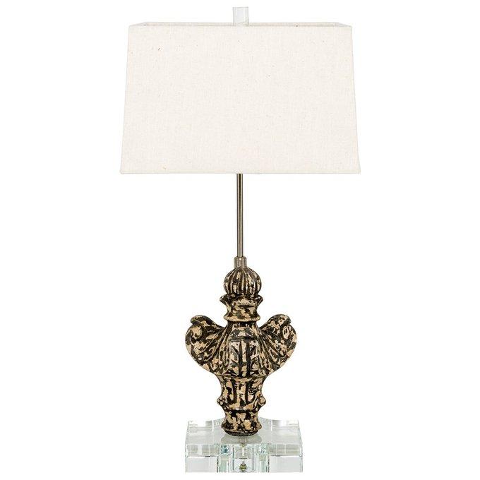 Настольная лампа Гамма с белым абажуром