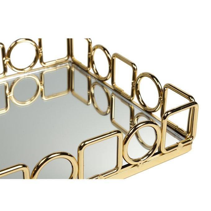 Зеркальный поднос Debra золотого цвета