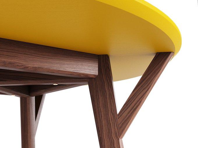 Обеденный стол Circle дуб тобакко / шафрановый