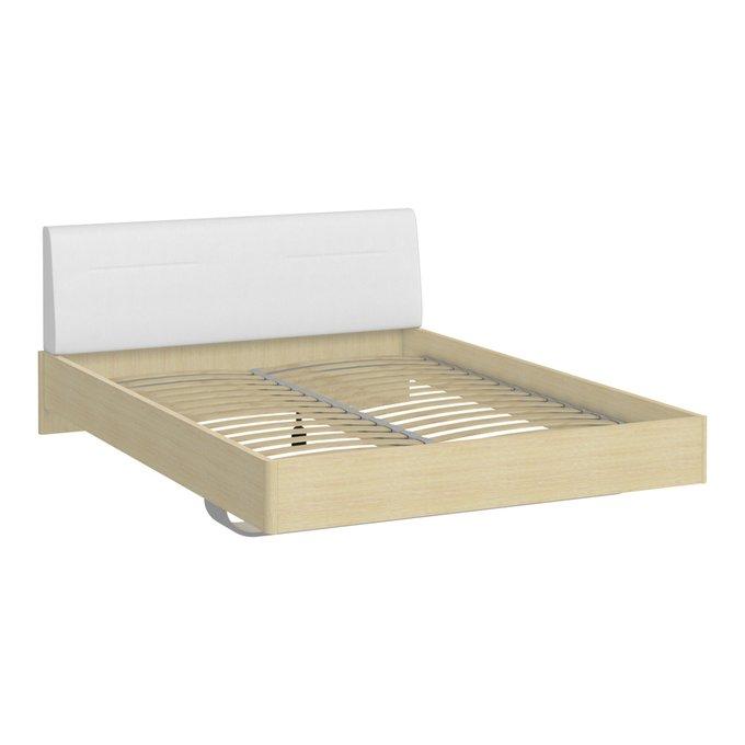 Кровать Элеонора 180х200 с изголовьем белого цвета
