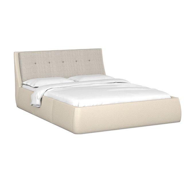 Кровать Гесиона 160х200 бежевого цвета с подъемным механизмом