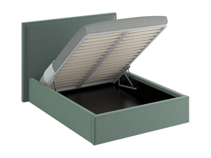 Кровать Blues Lift серо-зеленого цвета 160х200