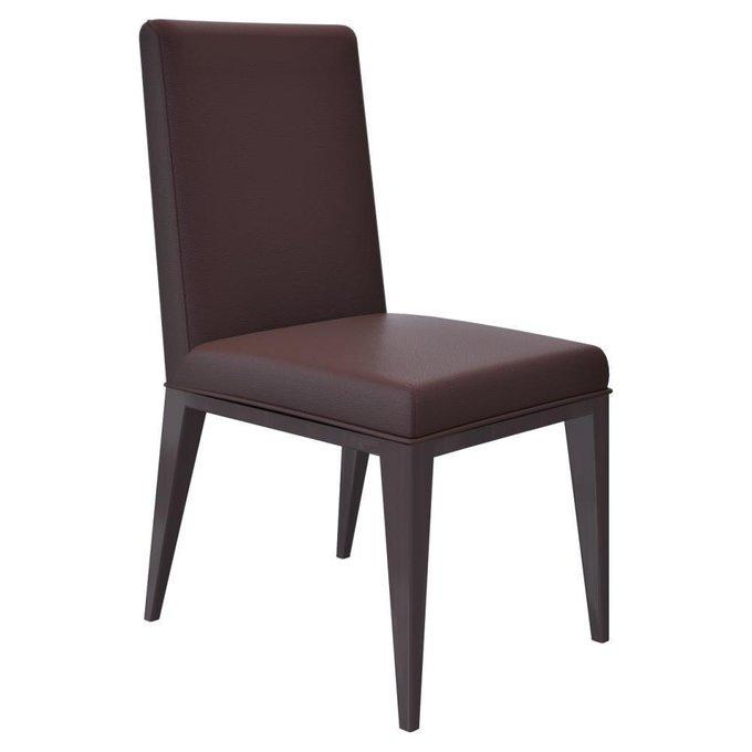Тёмно-коричневый стул на ножках из эбенового дерева