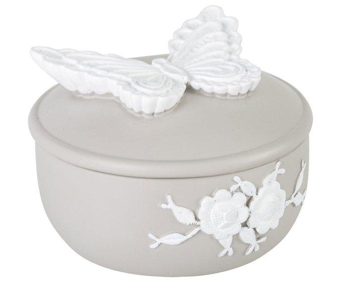 Шкатулка Amalfi с белой бабочкой