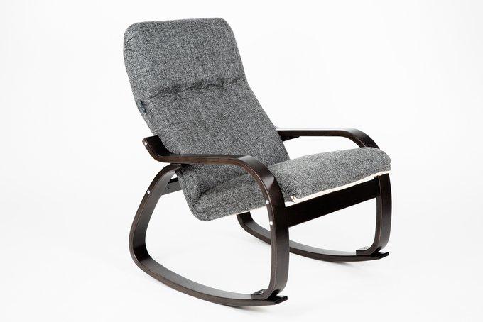 Кресло-качалка Сайма с черным каркасом