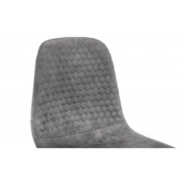 Барный стул Drop black grey серого цвета