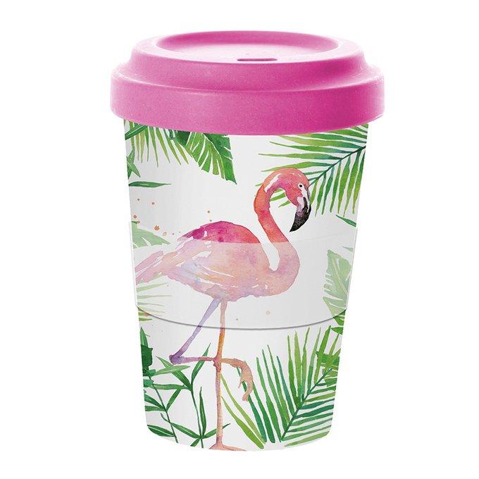 Кружка Paperproducts Design tropical flamingo бамбук 0,4 л