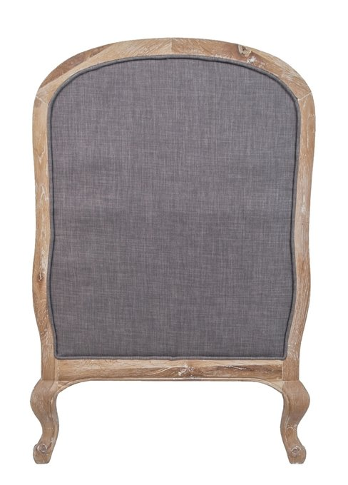 Кресло Honesta grey с пуфом