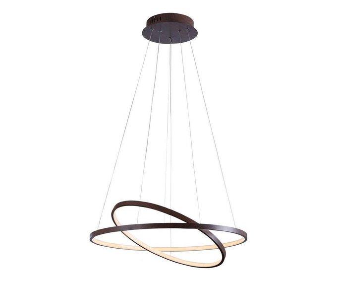 Подвесная светодиодная люстра Тор-Трек коричневого цвета