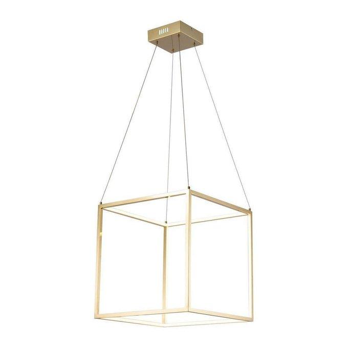 Подвесной светодиодный светильник  Exo  золотого цвета