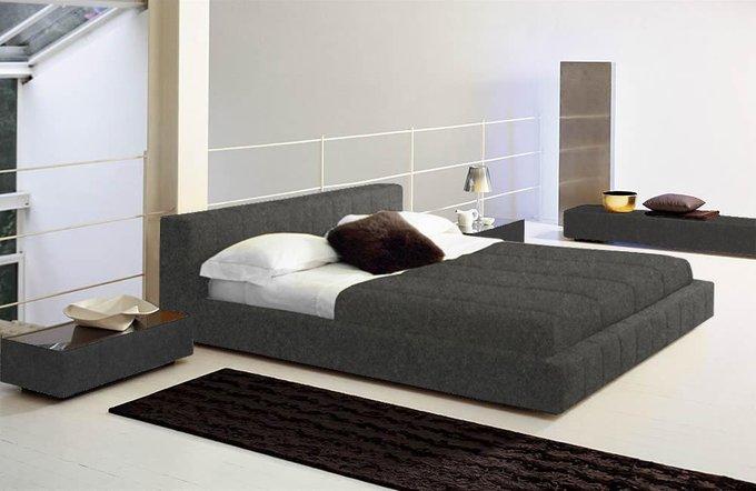 Кровать Squaring Basso Серый Кашемир 180х200