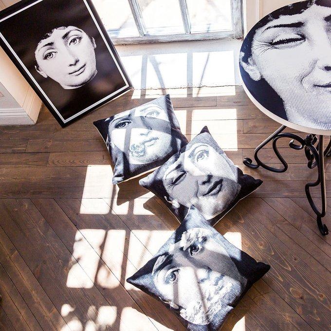 Арт-постер Лина версия Портрет в черно-белом цвете