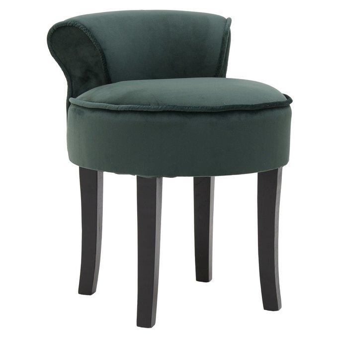 Кресло без подлокотников зеленого цвета