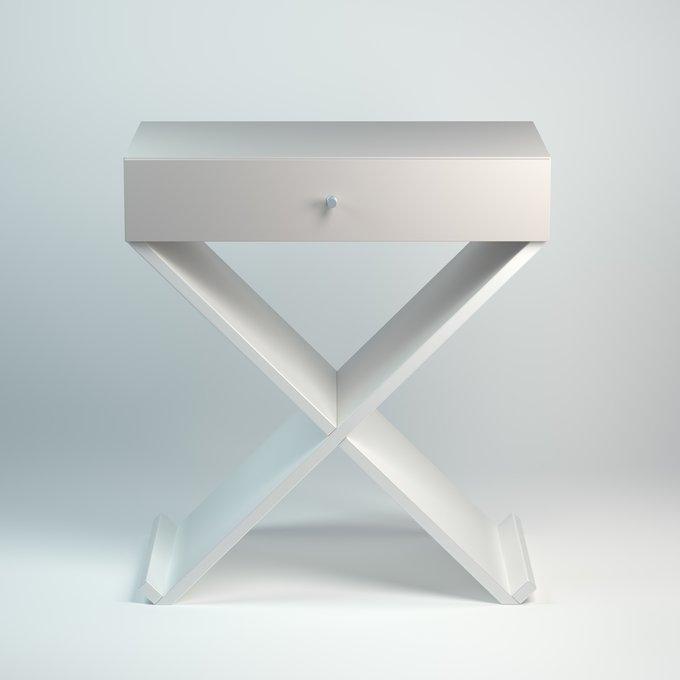 Тумба Bonn в стиле минимализм серо-белого цвета