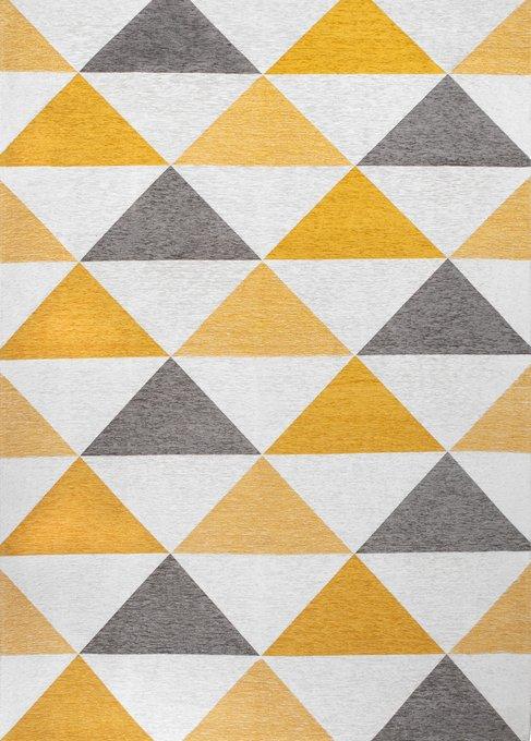 Ковер Line Otto серо-желтого цвета 160х230