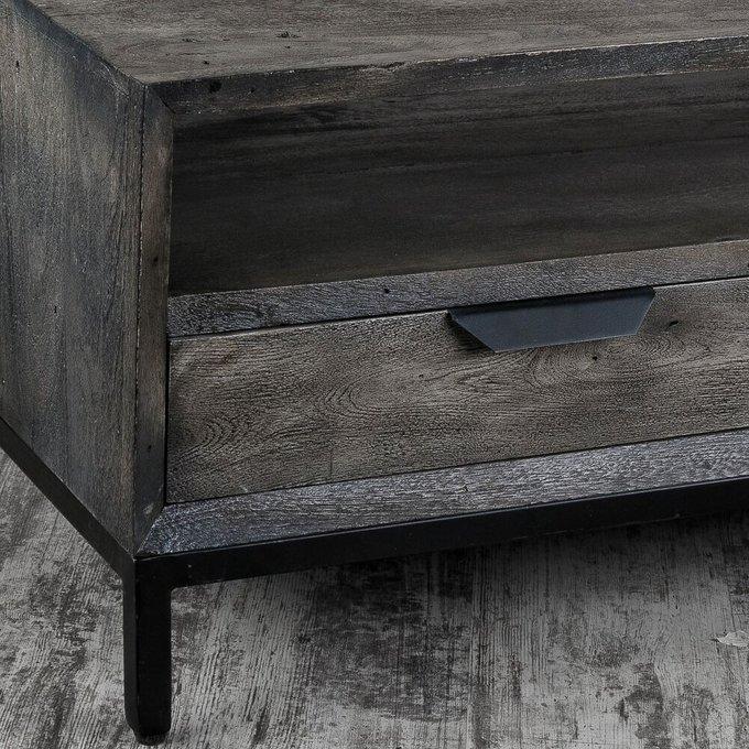 Стол журнальный серого цвета
