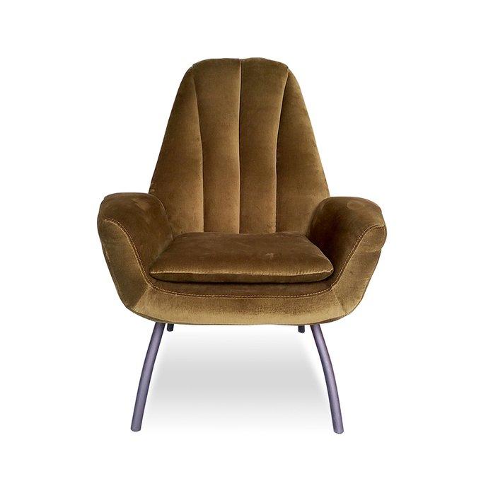 Кресло Бардокс коричневого цвета