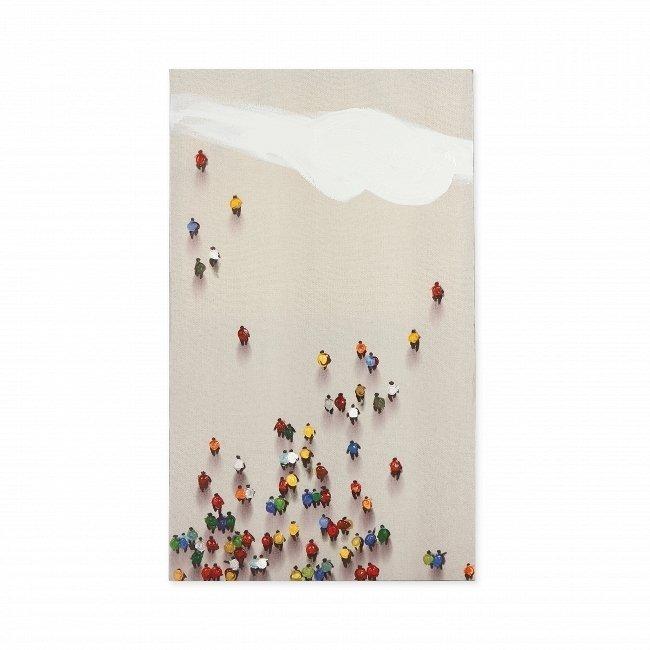 Картина на холсте Crowded Wall с подрамником 60х100