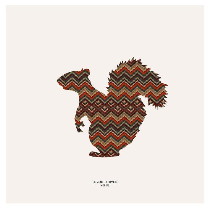 Картина (репродукция, постер): Зимний зоопарк, сусликовая белка