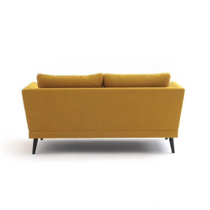Диван прямой трехместный Tomo желтого цвета