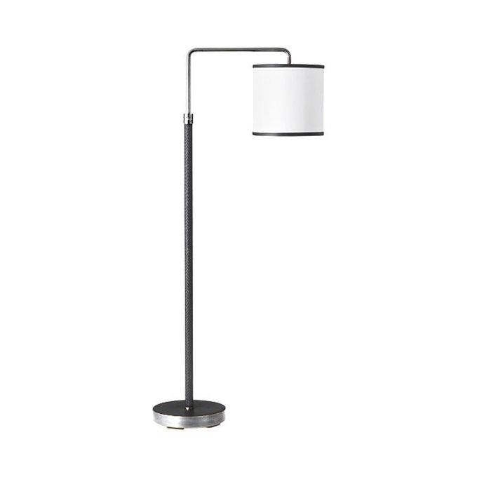 Напольная лампа Denley с белым абажуром