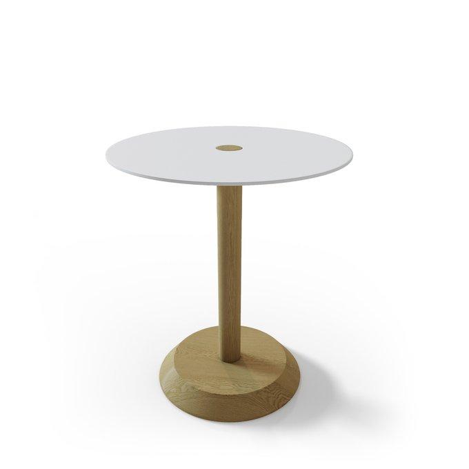 Прикроватная тумба/ столик Rondo с белой столешницей