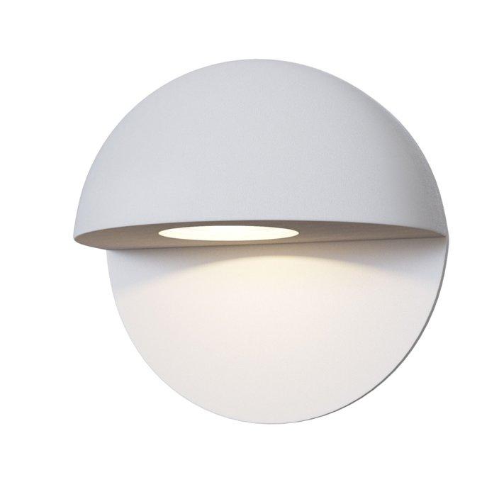 Уличный настенный светильник Mezzo белого цвета