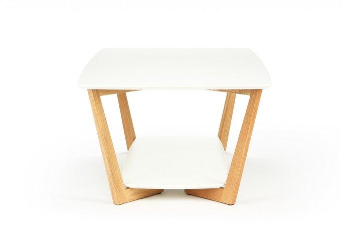 """Кофейный стол """"Border"""" с белой столешницей из мдф"""