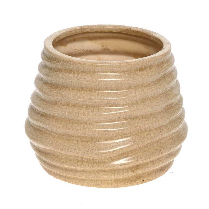 керамическая ваза бежевая