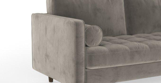 Трехместный раскладной диван Scott серый